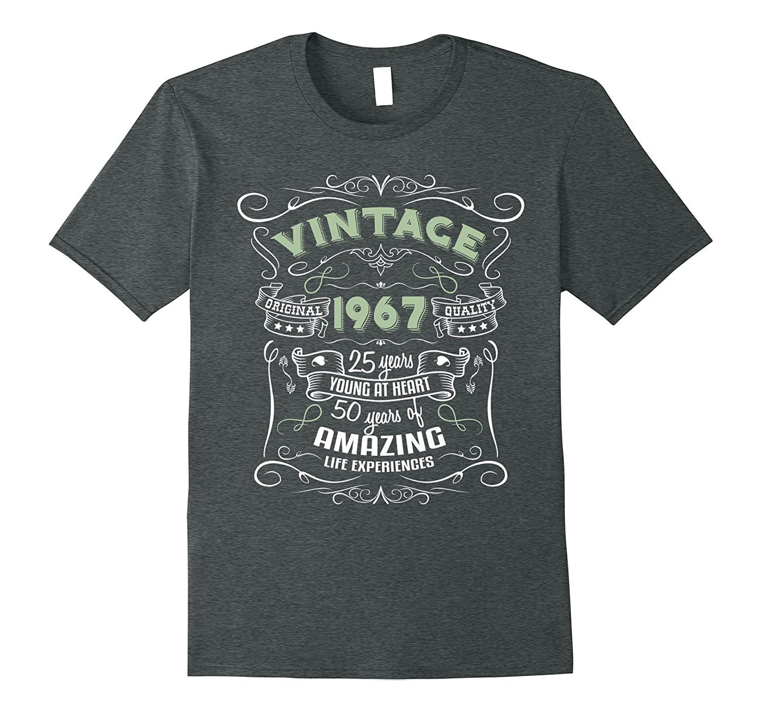 Vintage 1967 50th Birthday Shirt Funny Distressed Gift Tee-TJ