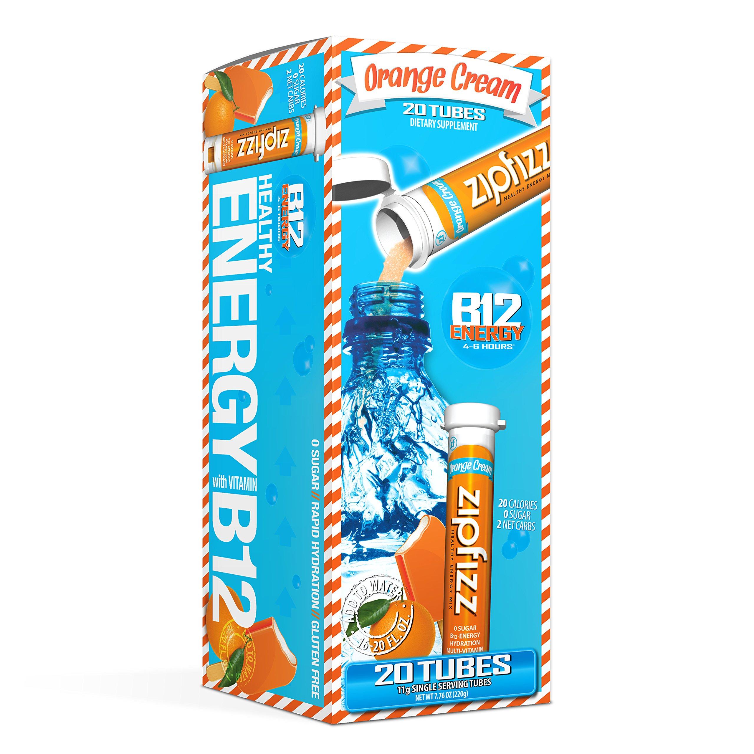 Zipfizz Healthy Energy Drink Mix, Orange Cream, 20 Count
