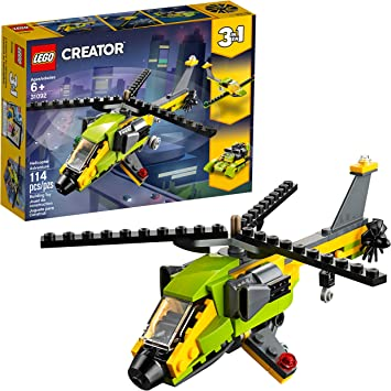 LEGO Creator 3in1 Helicopter Adventure 31092 Building Kit, 2019 (157 Pieces)