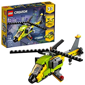 LEGO Creator 3in1 Helicopter Adventure 31092 Building Kit (157 Pieces)