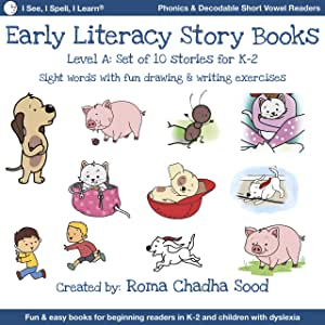 I See, I Spell, I Learn - Phonics, Sight Words & Short Vowel Storybooks (Decodable Readers for All Children in K-3 and Dyslexia) - Level A