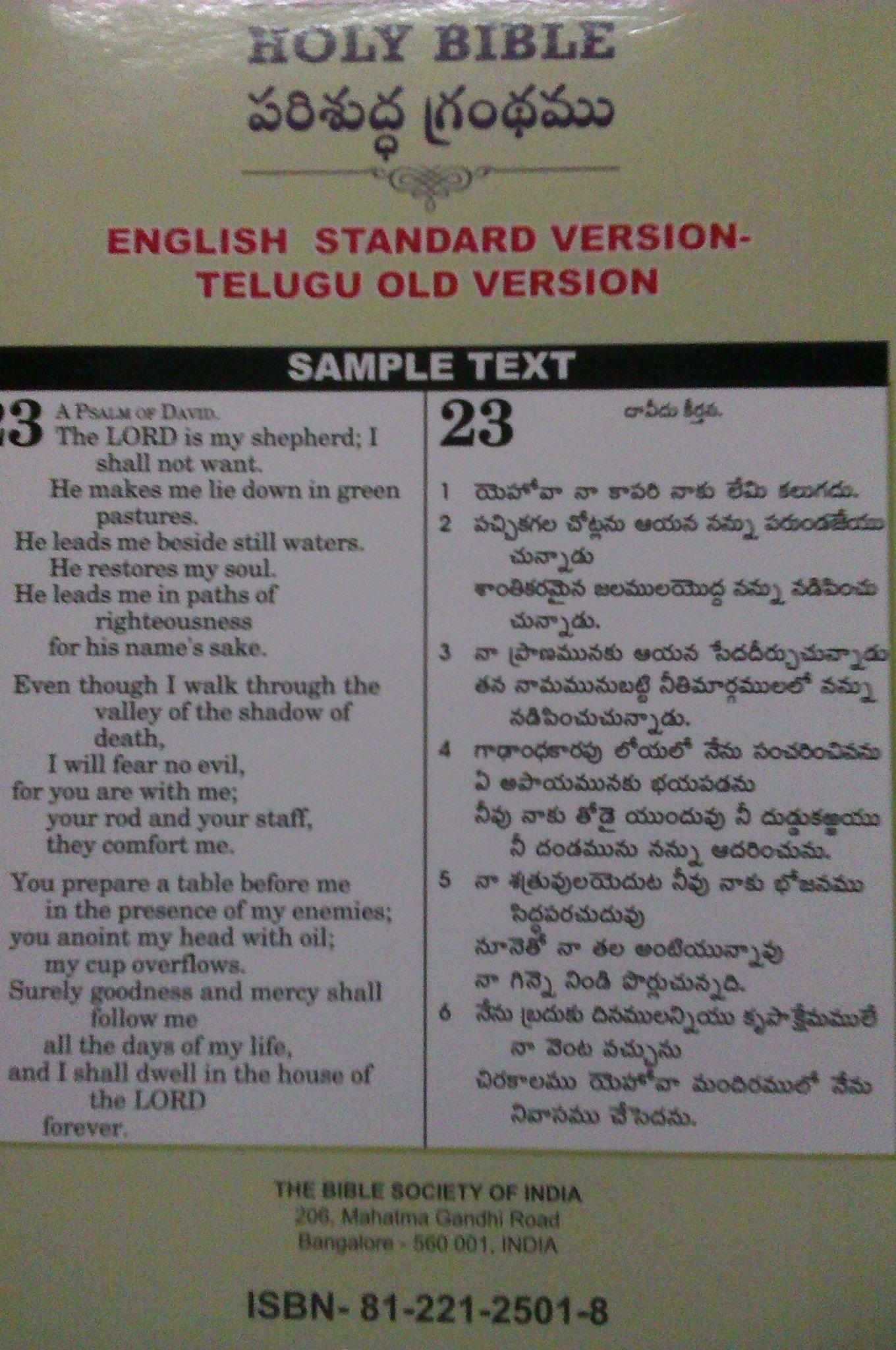 Telugu English Parallel Bible Pdf