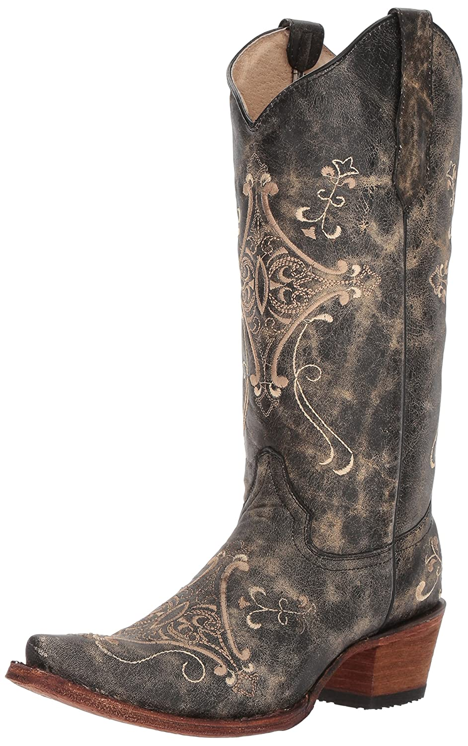 f625a129f15 Amazon.com: Corral Women's Circle G Crackle Scroll Bone Embroidered Western  Boot: Sports & Outdoors