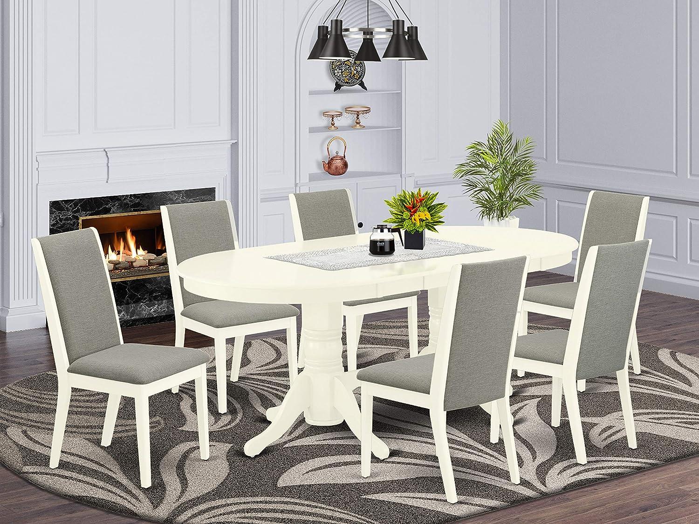 East West Furniture dining set, Linen White