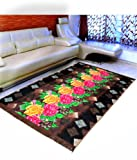 "Warmland  Floral Velvet Carpet - 60""x84"", Multicolour"
