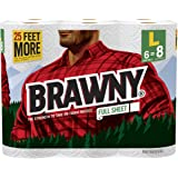Brawny® Paper Towels, Full Sheet, 6 Large Rolls