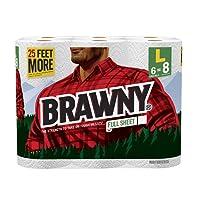 Brawny® Paper Towels, Full Sheet, 6 Large Rolls