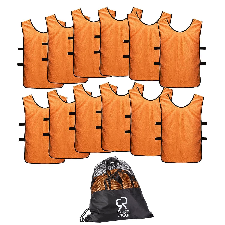 【保存版】 SportsRepublik 子供 ユース 大人用 大人用 男女用 サッカージャージビブス 子供 12枚パック ユース B06XDQB2QH S (3-5歳)|オレンジ オレンジ S (3-5歳), Brand Cosme MAM:71e82a8b --- svecha37.ru