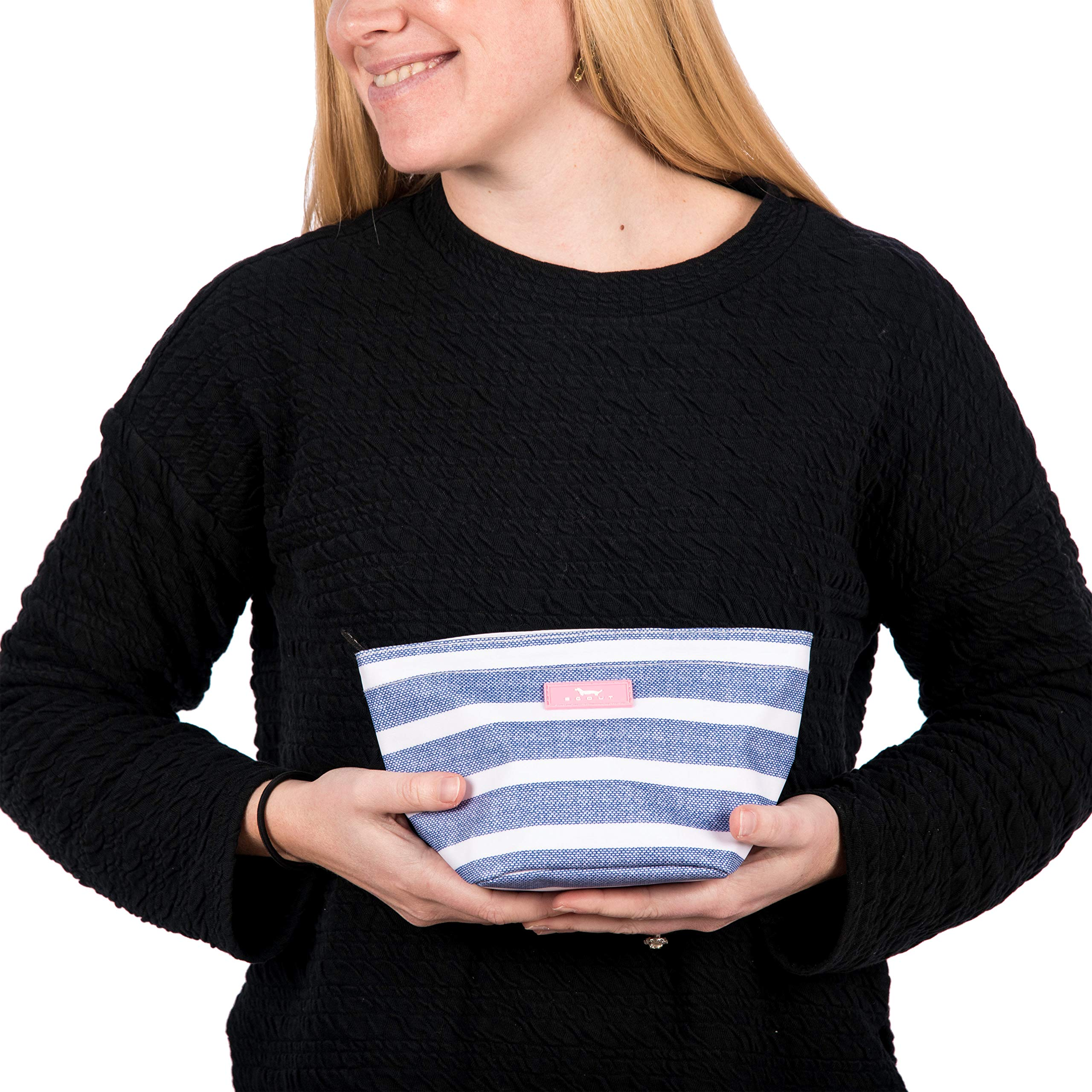 SCOUT Crown Jewels Cosmetic, Makeup & Small Accessory Bag, Water Resistant, Zips Closed, Stripe Right by SCOUT (Image #5)