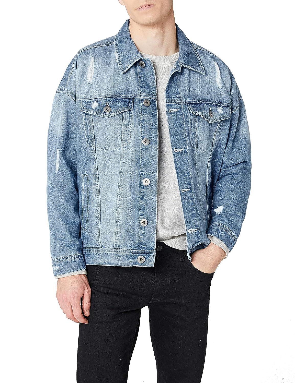 TALLA XL. Urban Classics Ripped Denim Jacket Chaqueta para Hombre