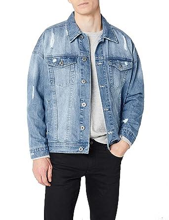 Urban Classics Ripped Denim Jacket, Chaqueta para Hombre: Amazon.es: Ropa y accesorios