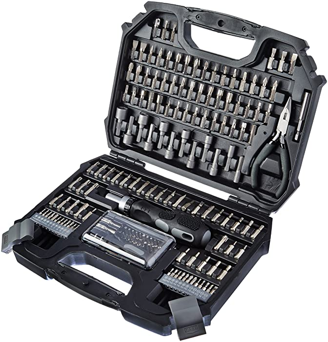 Amazonbasics 151-piece screwdriver bits set