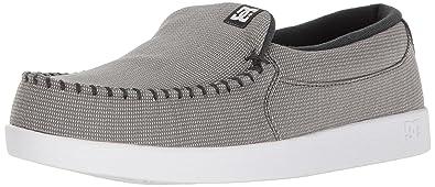 DC Men's Villain TX Skateboarding Shoe, Grey/White, ...