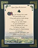 Retirement Blessing - May You Always Have Work For Your Hands - 8x10 with Green Matting