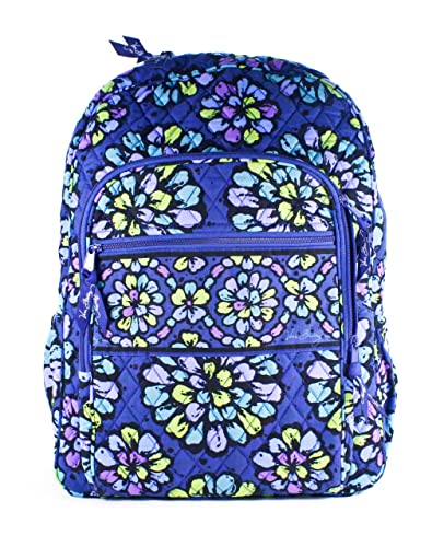Vera Bradley Campus Backpack Indigo Pop