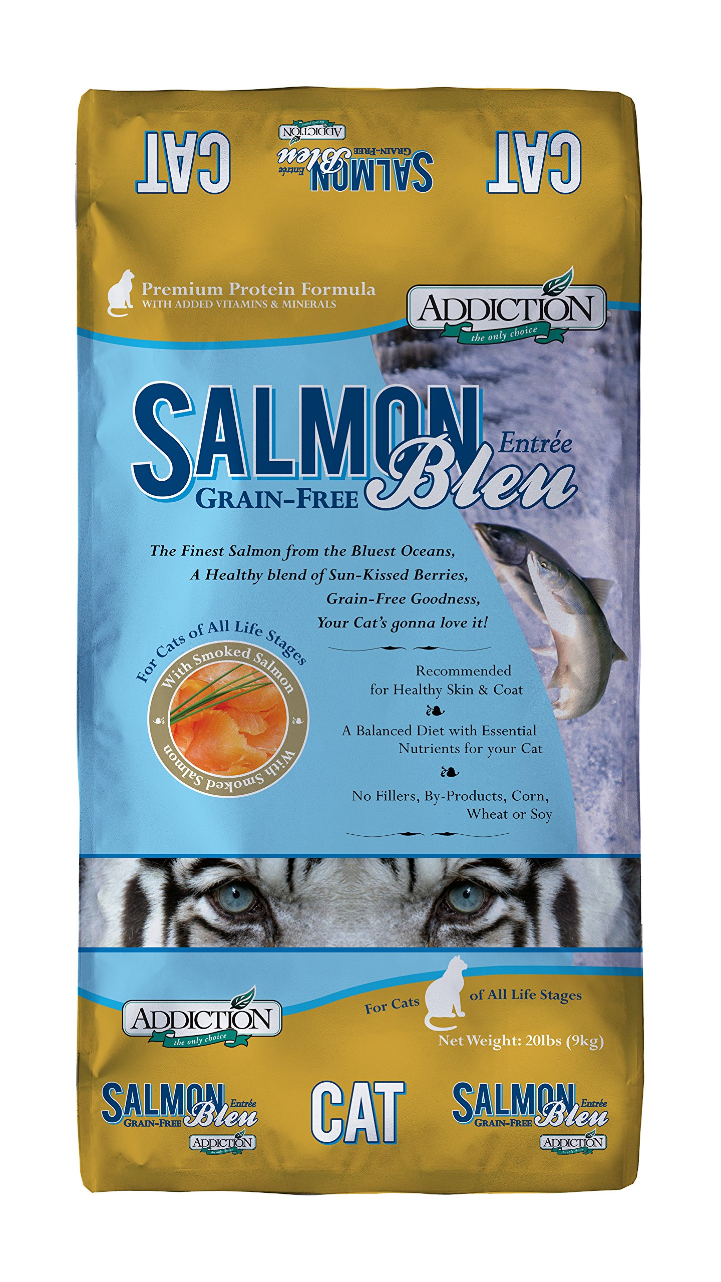 Addiction Salmon Bleu Grain Free Dry Cat Food, 20 Lb. by Addiction Pet Foods