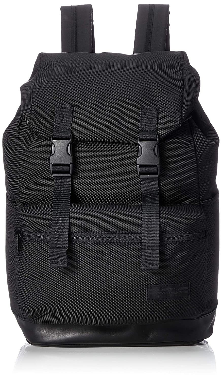 [ウィルダネスエクスペリエンス] リュック Better Day Trip W Leather A4収納 W-L  ブラック B07F6F9BYC