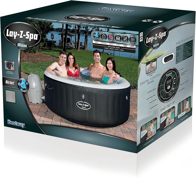 Amazon.com: Lay-Z-Spa Miami – Bañera De Hidromasaje ...
