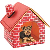 Etna Portable Brick Dog House Warm And Cozy Indoor/Outdoor, Great For Dogs, Cats, Puppies, and Rabbits