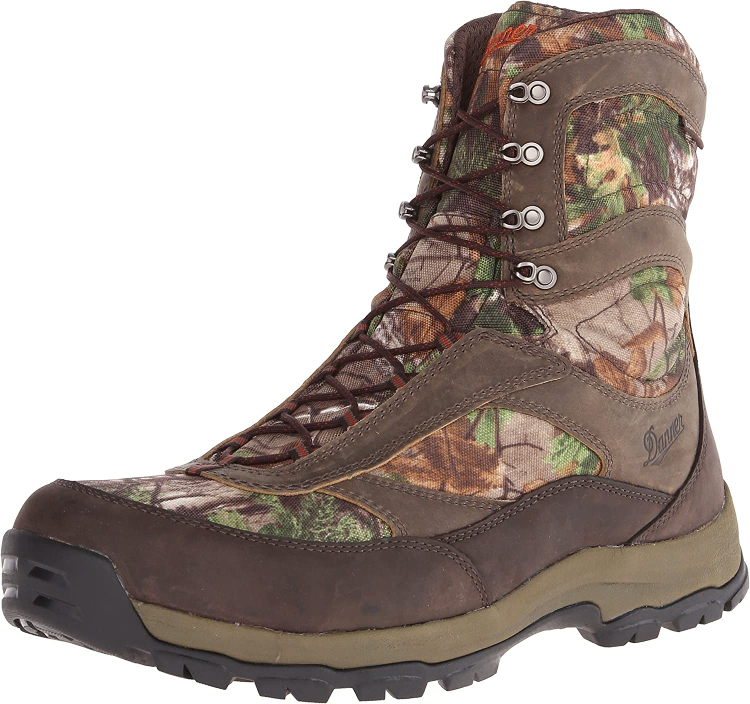 Danner Men s High Ground 8 Realtree Xtra Hunting Boot,Brown Green,9.5 EE US