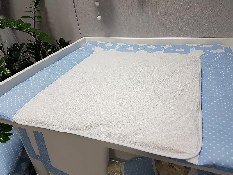 BiG DREAM BiG Dream blau Babymajawelt/® Wickelauflage mit 2 abnehmbaren und wasserabweisenden Frottee Bez/ügen 75x85 cm Oberstoff 100/% Baumwolle
