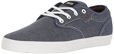 Globe Men's Motley Skateboarding Shoe, Dark Blue/White, ...