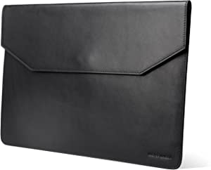 Kasper Maison 13 inch Leather Laptop Sleeve for MacBook Pro 2016-2020 and Air 2018-2020 - Black