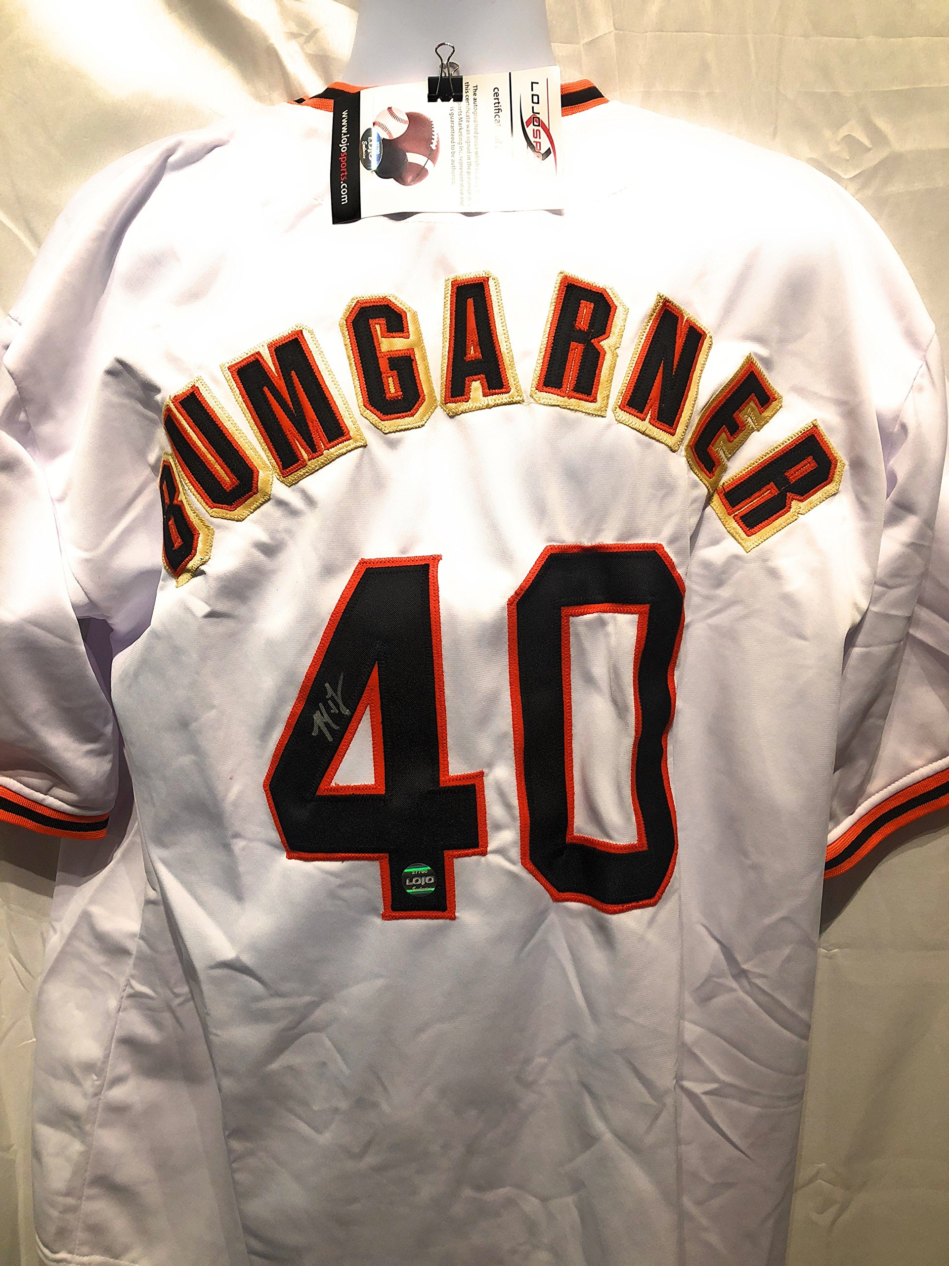 Madison Bumgarner San Francisco Giants Signed Autograph White Custom Jersey LoJo Sports Certified
