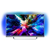 Philips 55PUS7503/12 55-Inch 4K Ultra HD Android Smart TV with HDR Plus, 3-sided Ambilight and built-in Soundbar - Dark Silver (2018 Model)
