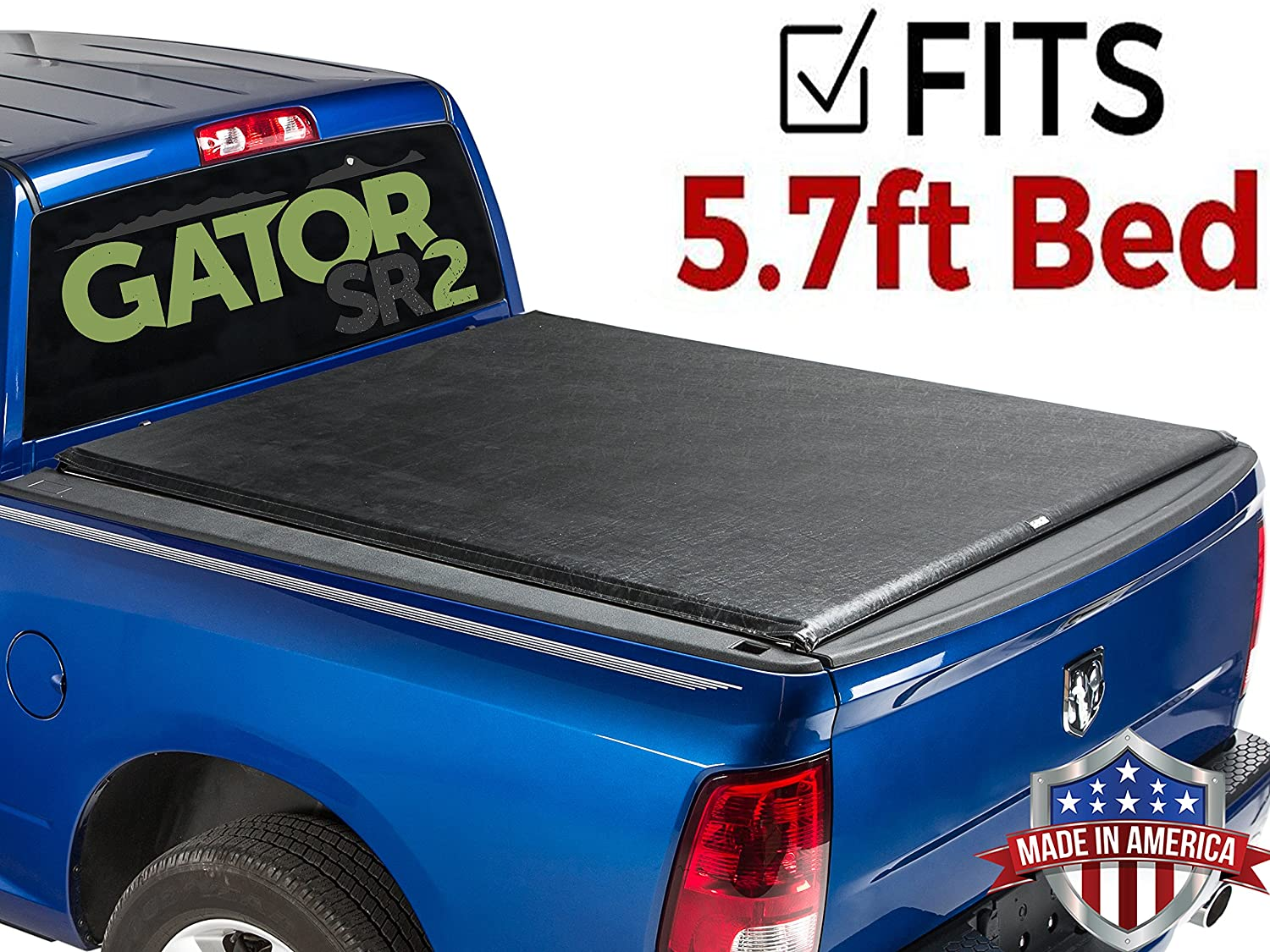 Tyger T2 Roll Up Low Profile Tonneau Cover Fits 2009 2019 Dodge Ram 8ft Bed