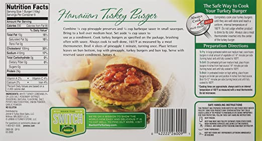 Turkey Burger Patty Nutrition Facts Besto Blog