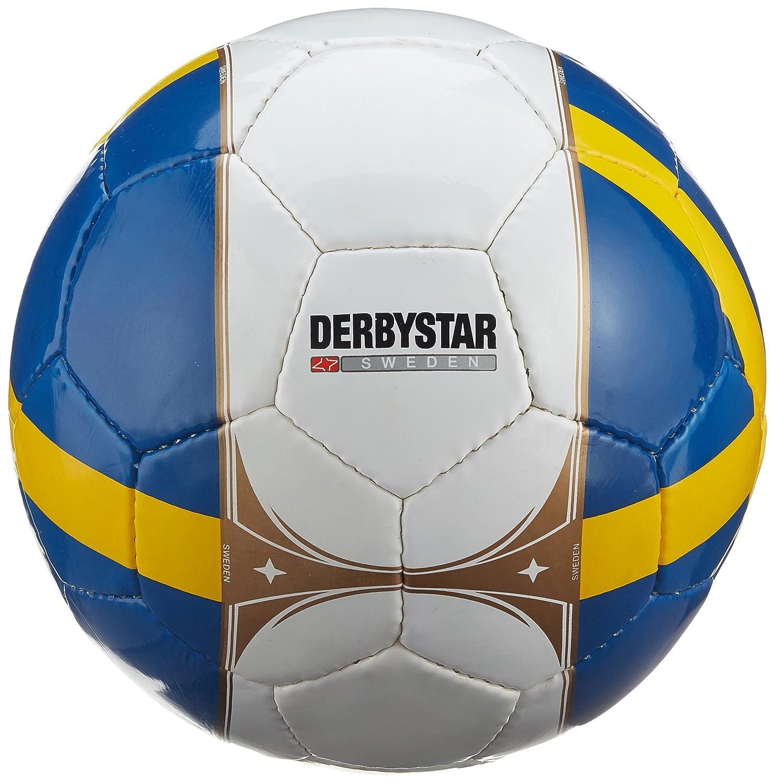 Derbystar Ballon de football Su/ède de Pays Balle dentra/înement Fan de football Blanc//bleu//jaune