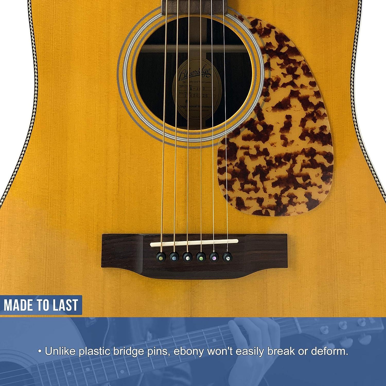 Clavijas para puente de ébano puro de Crosby Audio con ...