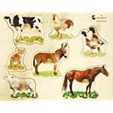 Edushape Large Knob Puzzle, Farm Animal
