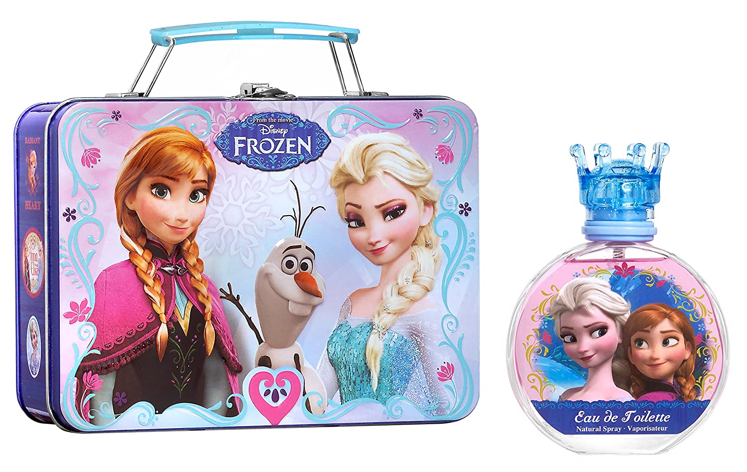 Disney Frozen 2 Piece Gift Set with Edt Spray and Metallic Lunch Box for Kids P6339