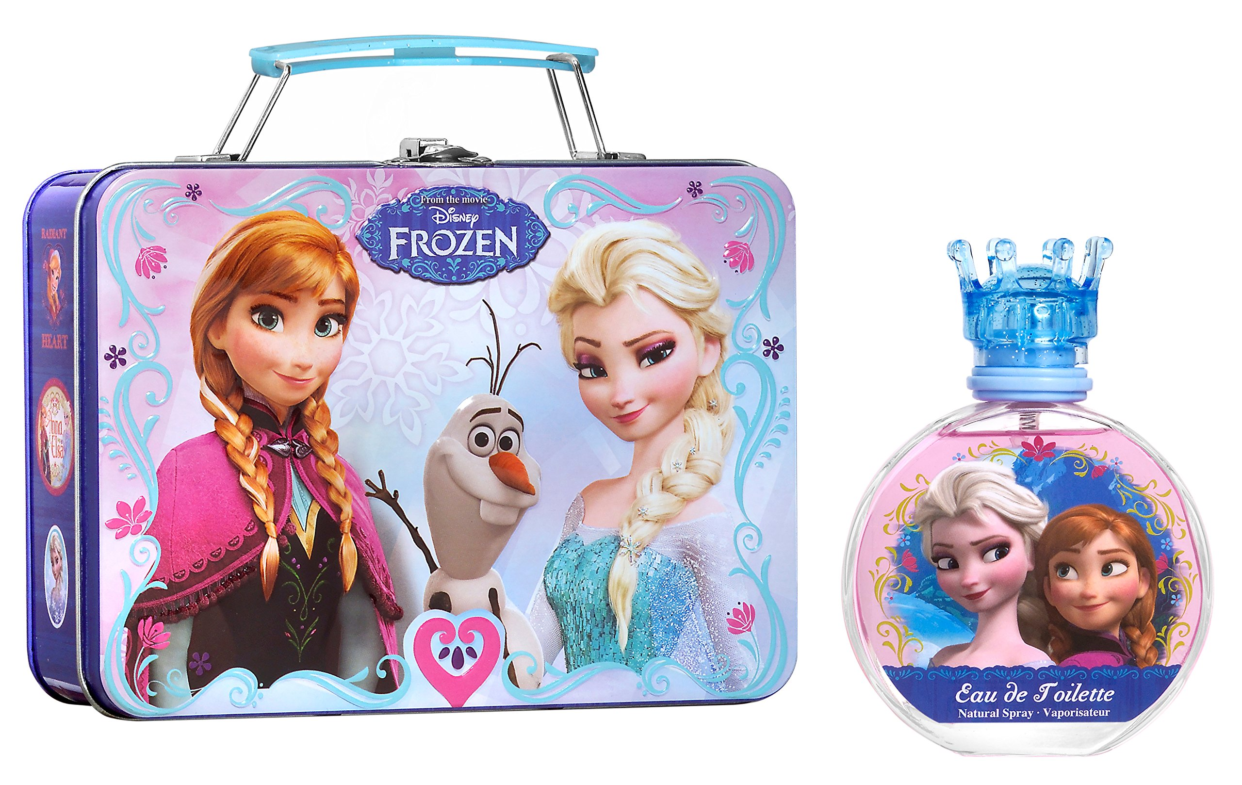 Disney Frozen for Kids 2 Piece Gift Set with Edt Spray and Metallic Lunch Box