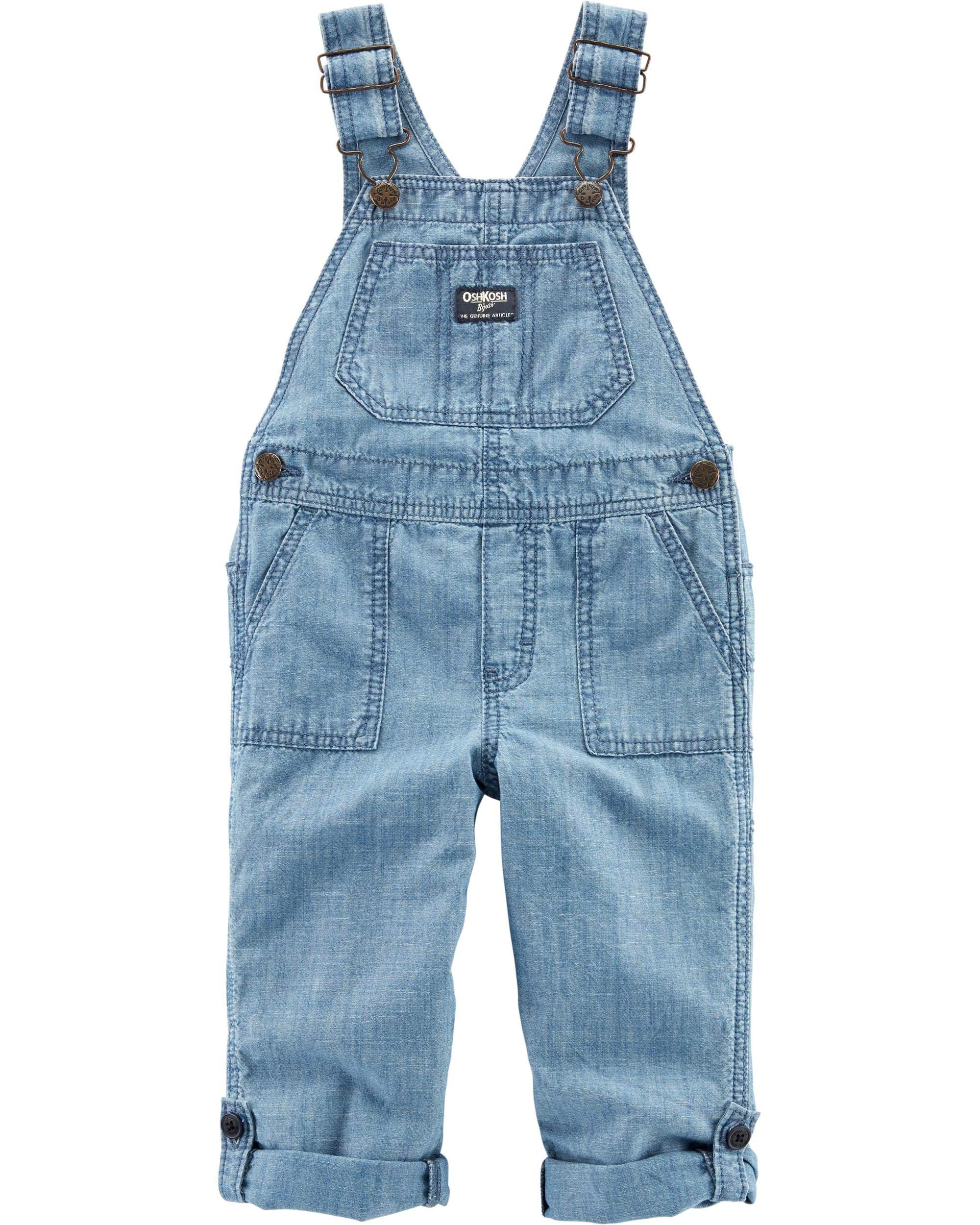 Osh Kosh Boys' Toddler World's Best Overalls, Hibiscus wash 2T