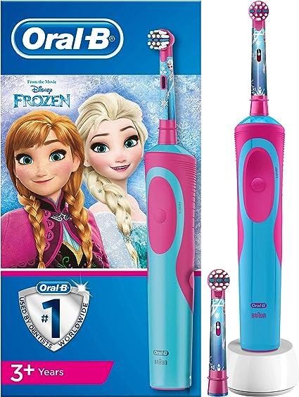 Oral-B Stages Power Kids - Cepillo Eléctrico Recargable para Niños con Personajes de Frozen de Disney, 1 Mango, Cabezal de Recambio x 2: Amazon.es: Salud y cuidado personal