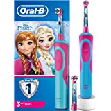 Oral-B Stages Power Kids - Cepillo Eléctrico Recargable para Niños con Personajes de Frozen de Disney, 1 Mango, Cabezal de Recambio x 2