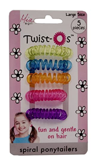 Amazon.com   Mia Twist O s-Spiral Hair Elastics Rubber Bands Hair ... 82fd70656db