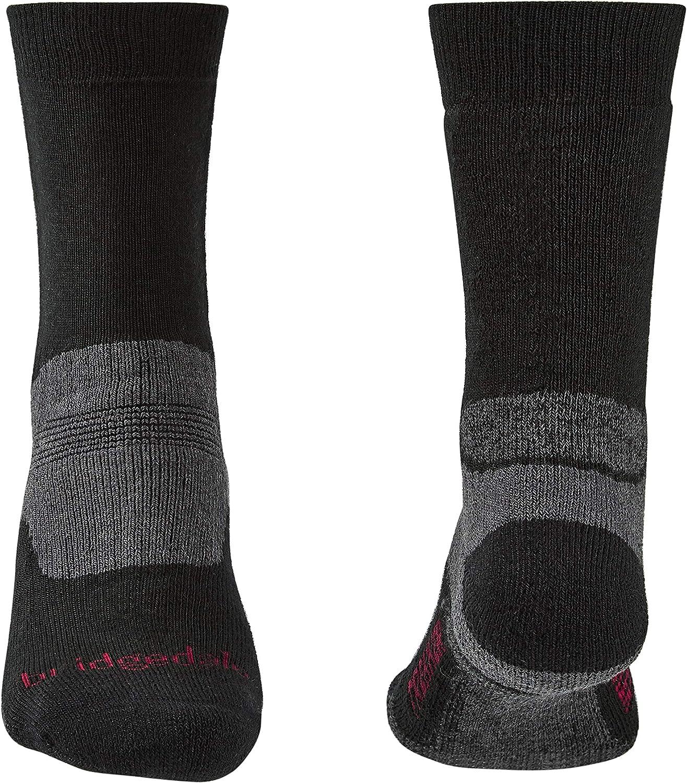 Medium Bridgedale Men/'s Hike All Season Merino Comfort Socks Black