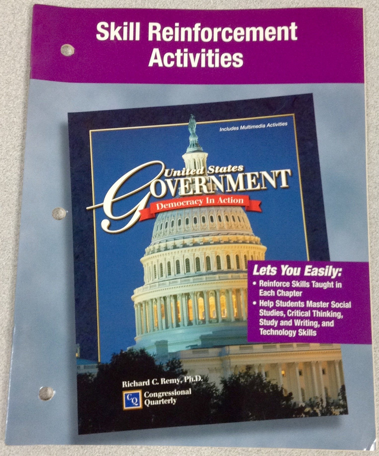 """Skill Reinforcement Activities for """"United States Government: Democracy in  Action"""" by Remy: Glencoe McGraw-Hill: 9780028220895: Amazon.com: Books"""