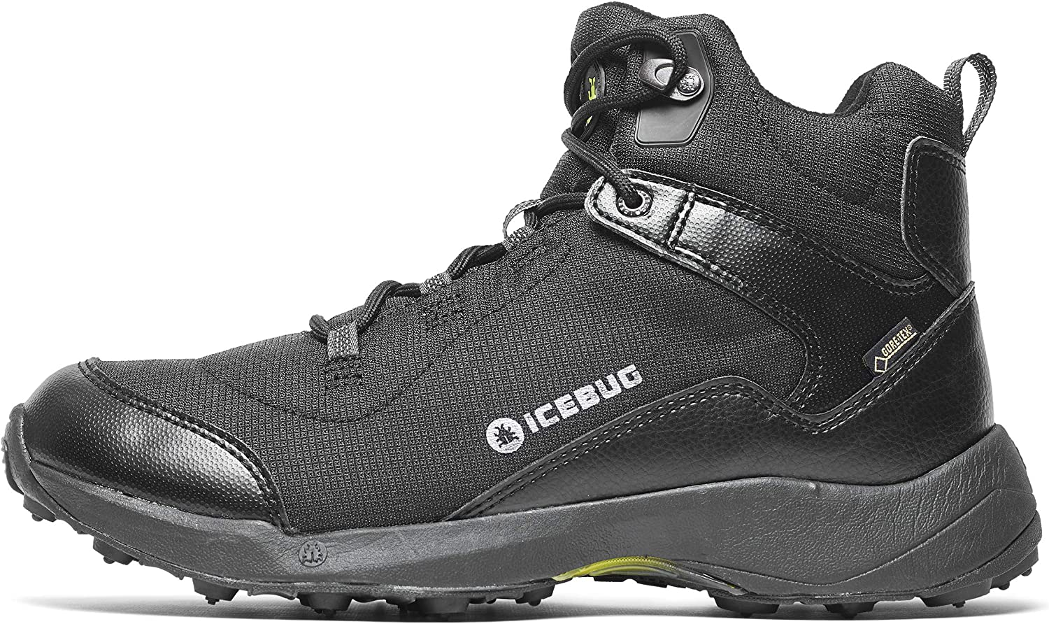 Icebug Gore-TEX Waterproof Insulated Boots for Men Pace2 BUGrip GTX Mens Outdoor Winter Walking Hiking Boot – Studded Traction Sole