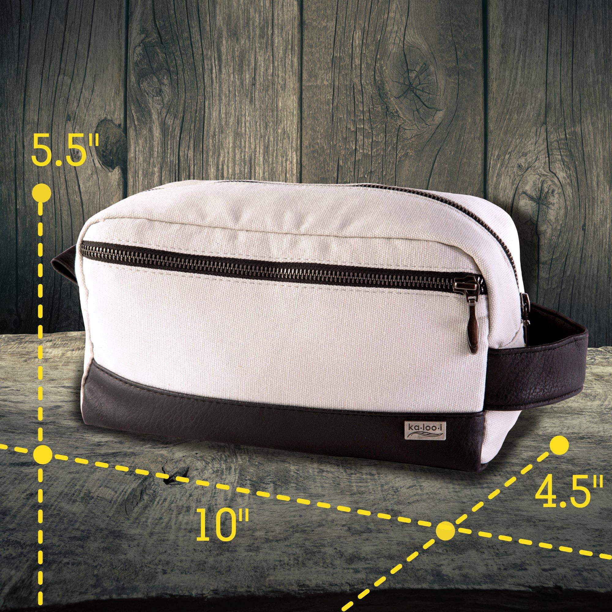Toiletry Bag for Men - Canvas Dopp Kit for Travel, Gym, Grooming & Shaving, Waterproof Lining, 10\