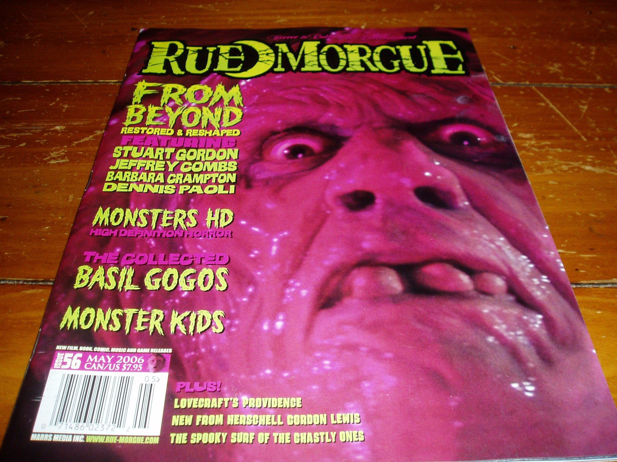 Read Online Rue Morgue Magazine Issue # 56 May 2006 pdf epub