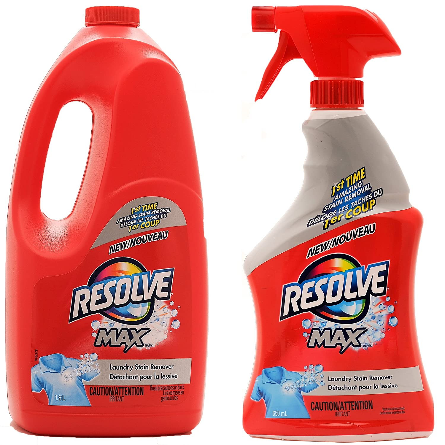 Resolve Max (Spray 'N Wash) Trigger & Refill Mega Value Pack, 22 fl.oz Trigger + 61 fl. oz. Refill (Total 83 fl. oz.)