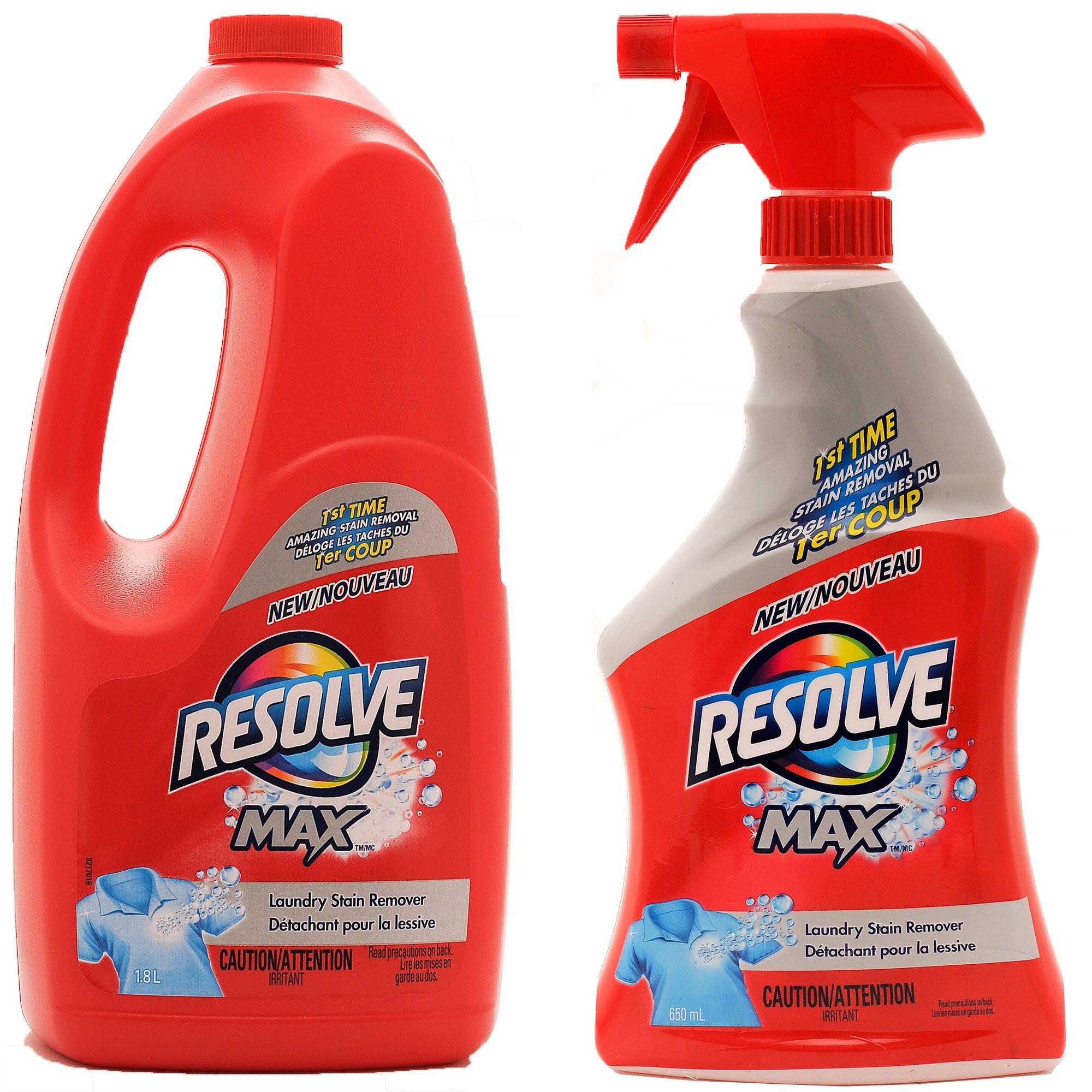 Resolve Max (Spray 'N Wash) Trigger & Refill Mega Value Pack, 22 fl.oz Trigger + 61 fl. oz. Refill (Total 83 fl. oz.)