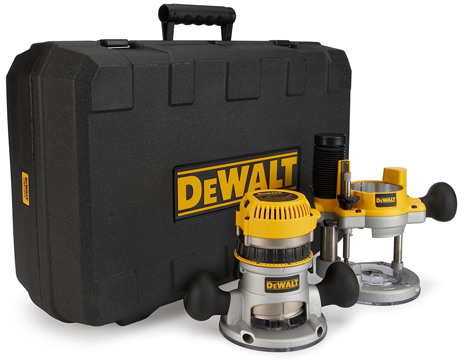dewalt router kit. dewalt dw618pk 12 amp 2-1/4 hp plunge- and fixed-base variable-speed router kit with 1/4-inch 1/2-inch collets: amazon.ca: tools \u0026 home improvement dewalt