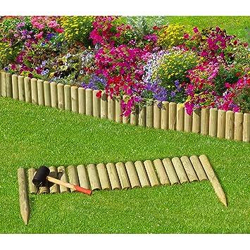 Beeteinfassung Holz steckzaun 100 cm zaunhöhe 20 cm aus holz für beeteinfassung