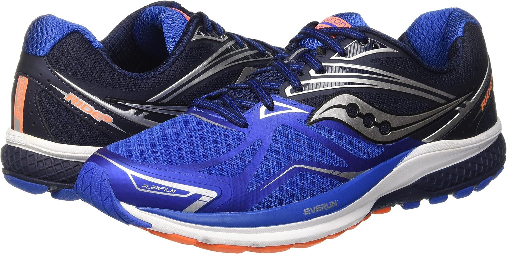Saucony Ride 9, Zapatillas de Running para Hombre, Azul (Grey/Blue ...